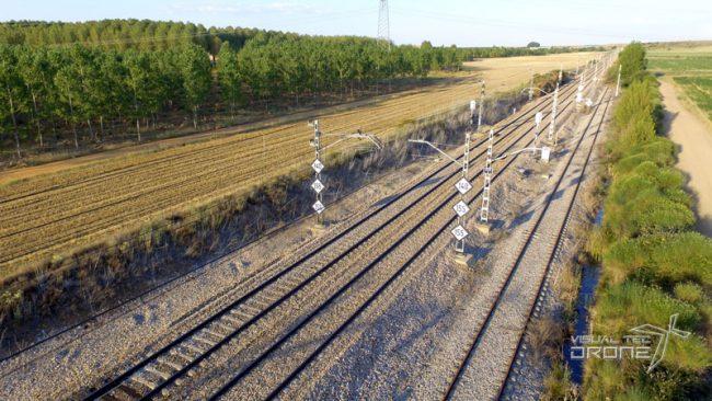 Instalaciones energéticas catenarias de tren Visual Tec Drone